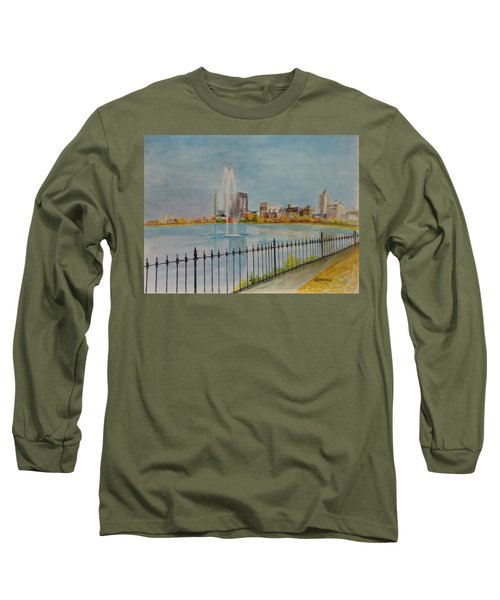 Reservoir In Central Park Long Sleeve T-Shirt