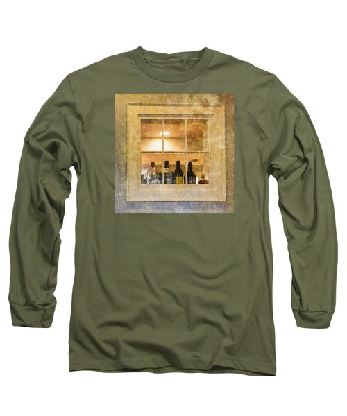 Long Sleeve T-Shirt featuring the photograph Restaurant Window by Tom Singleton
