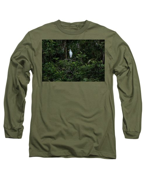 Resting Egret Long Sleeve T-Shirt