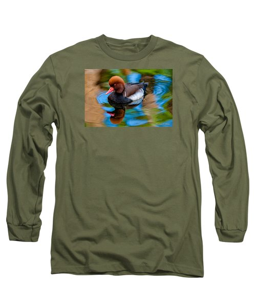 Resting In Pool Of Colors Long Sleeve T-Shirt by Christopher Holmes