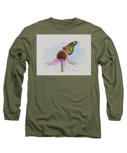 Resting Monarch Long Sleeve T-Shirt