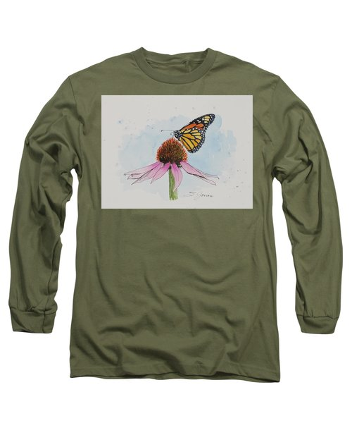 Resting Monarch Long Sleeve T-Shirt