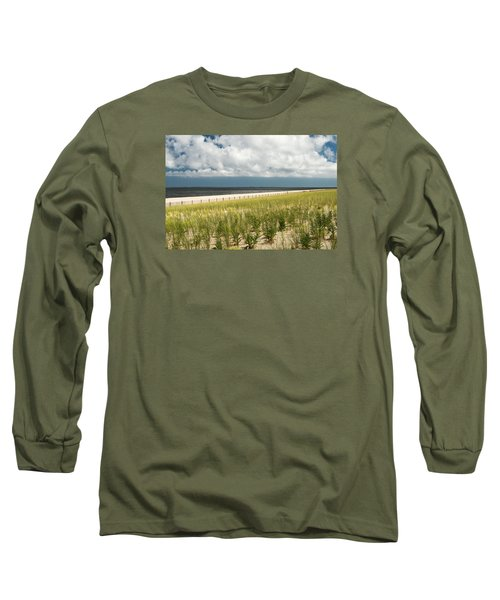 Long Sleeve T-Shirt featuring the photograph Restoring The Sand Dunes by Gary Slawsky