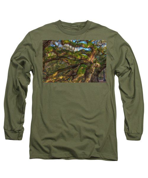 Long Sleeve T-Shirt featuring the photograph Resurrection Fern Dons Angel Oak by Patricia Schaefer