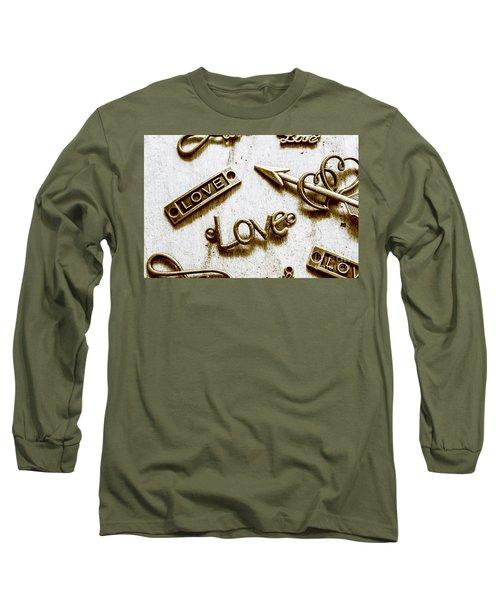 Retro Love Heart Jewels  Long Sleeve T-Shirt