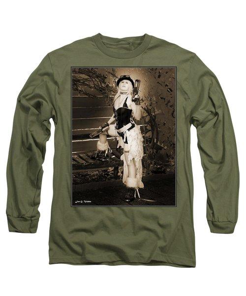 Retro Steam Punk Vixen Long Sleeve T-Shirt