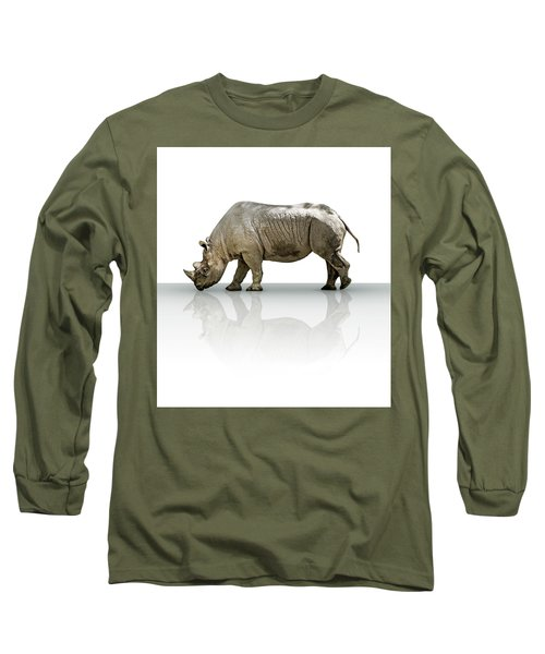 Rhinoceros Long Sleeve T-Shirt by James Larkin