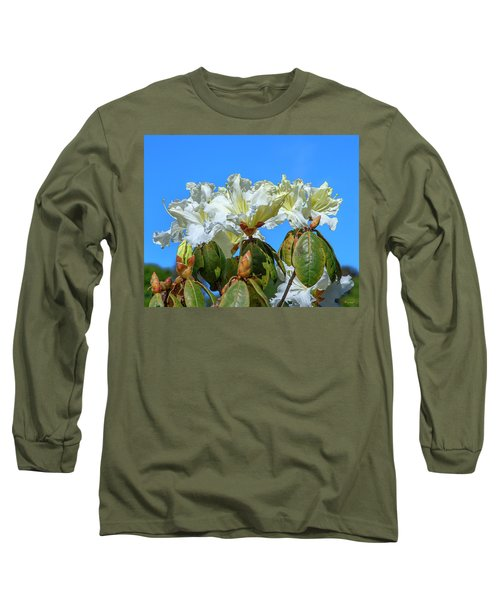 Rhododendron Ciliicalyx Dthn0213 Long Sleeve T-Shirt