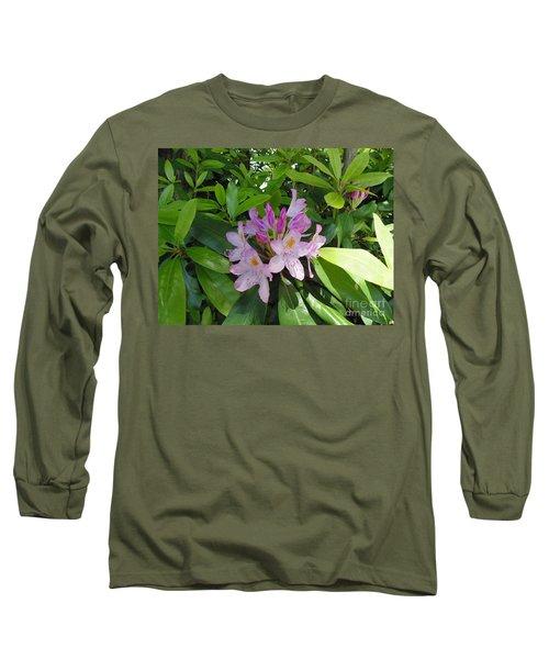 Rhododendron Long Sleeve T-Shirt by Daun Soden-Greene