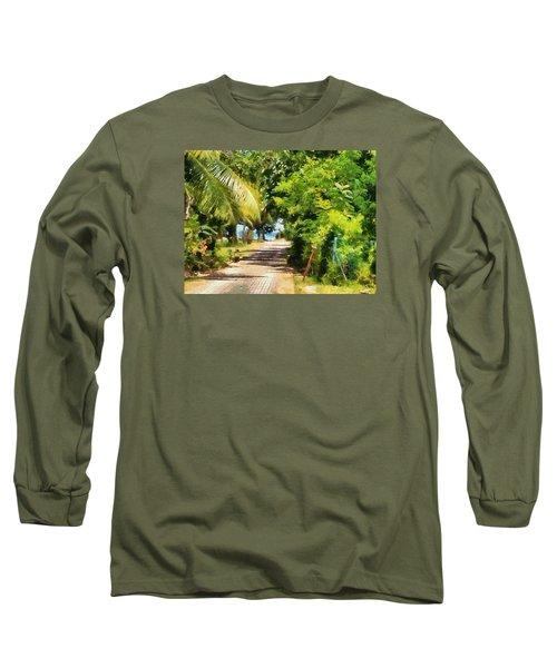 Rich Green Path Long Sleeve T-Shirt