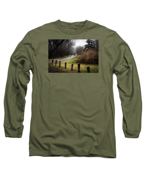 Riding Into The Fog Long Sleeve T-Shirt