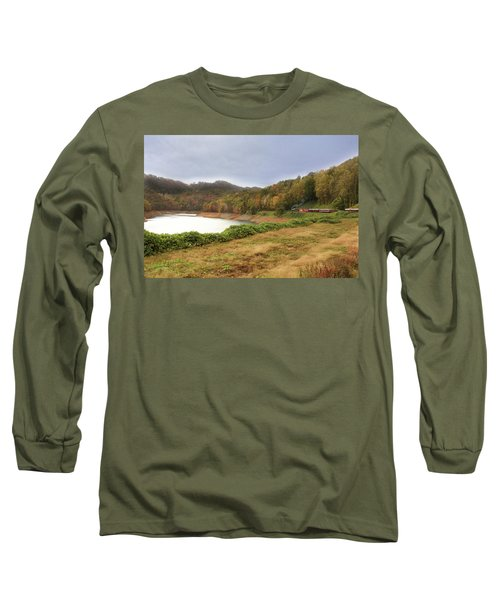 Long Sleeve T-Shirt featuring the digital art Riding The Rails by Sharon Batdorf
