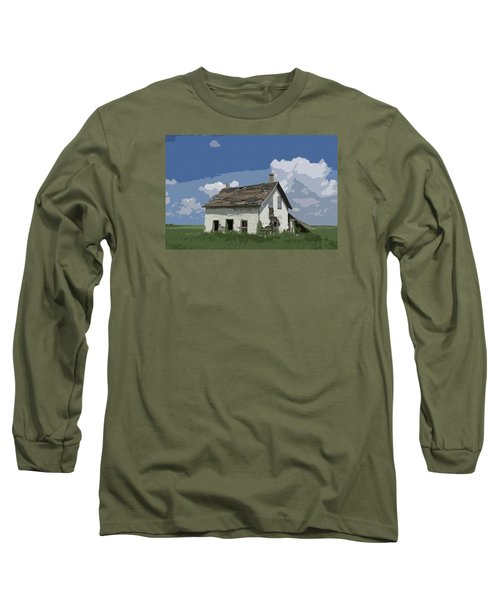 Riel Period Homestead Long Sleeve T-Shirt by Ellery Russell