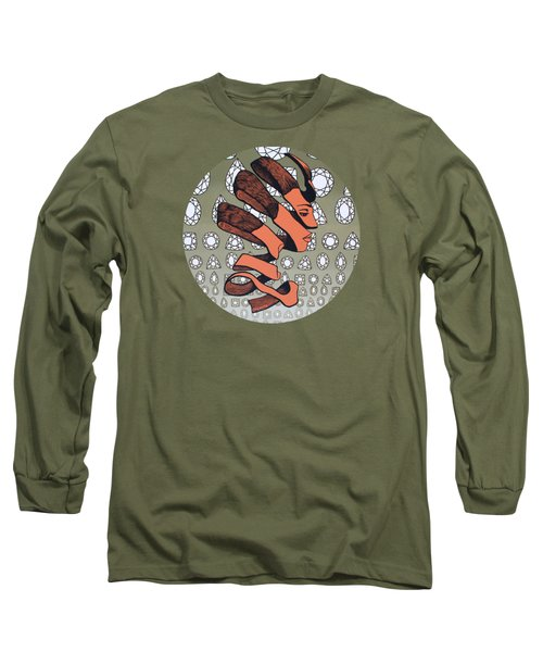 Long Sleeve T-Shirt featuring the painting Rind Beauty by Malinda Prudhomme