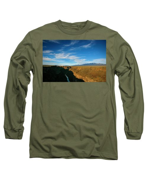 Long Sleeve T-Shirt featuring the photograph Rio Grande Gorge Nm by Marilyn Hunt