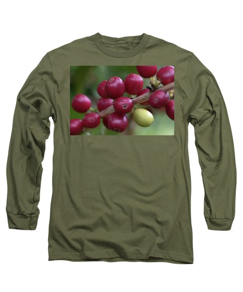 Ripe Kona Coffee Cherries Long Sleeve T-Shirt