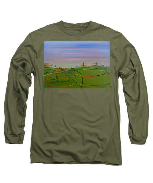 Ripples Of Life 1.2 Long Sleeve T-Shirt by Tim Mullaney