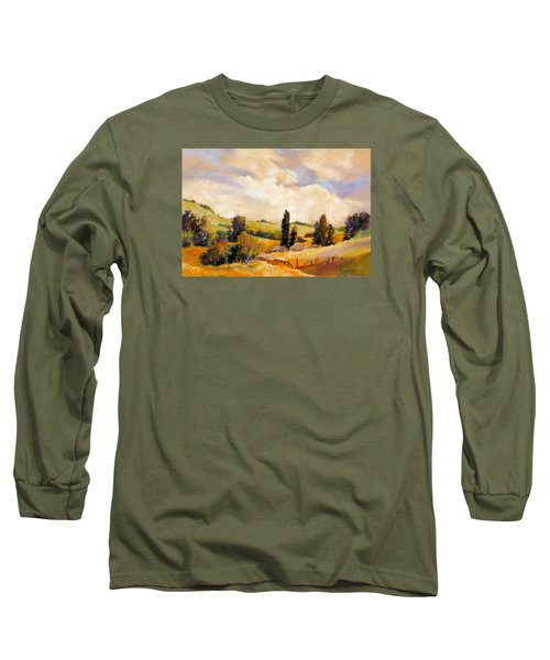 Long Sleeve T-Shirt featuring the painting Rising Heat by Rae Andrews