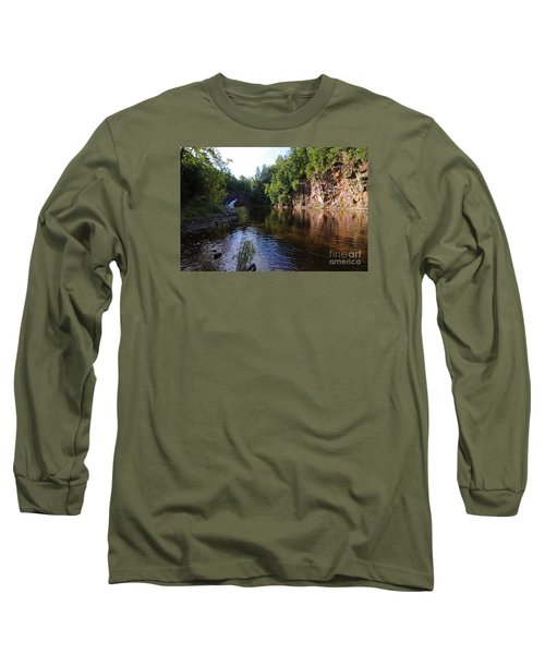 Long Sleeve T-Shirt featuring the photograph River Reflections by Sandra Updyke