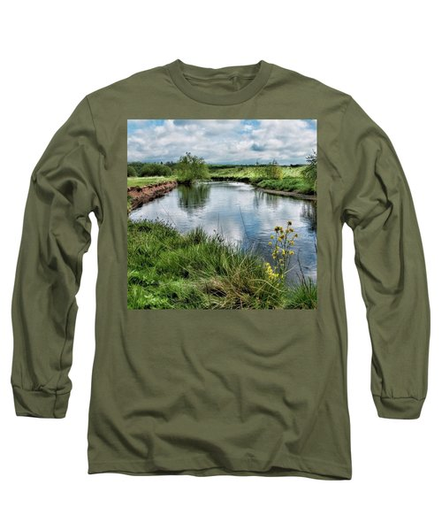 River Tame, Rspb Middleton, North Long Sleeve T-Shirt by John Edwards