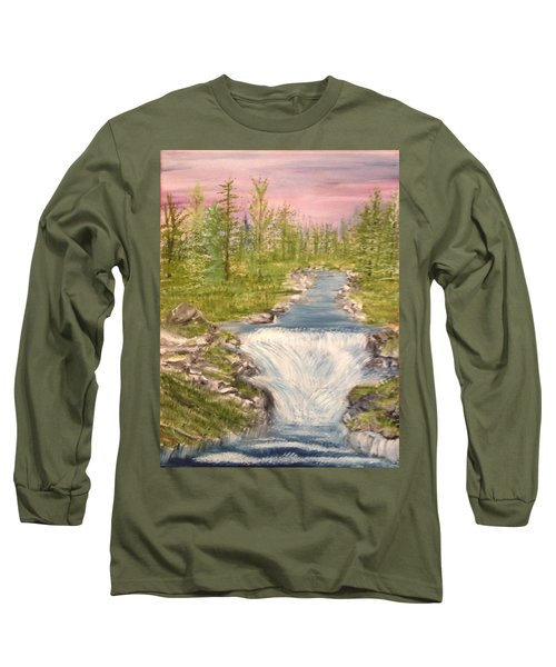 River With Falls Long Sleeve T-Shirt