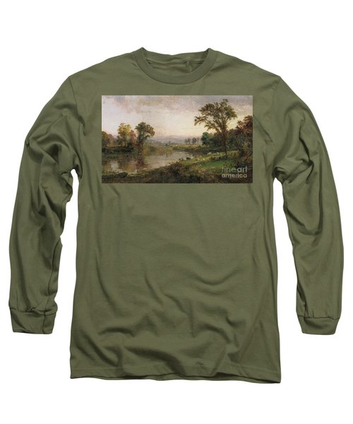 Riverscape In Early Autumn Long Sleeve T-Shirt