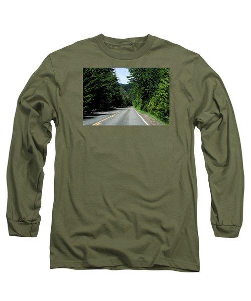 Road Among The Trees Long Sleeve T-Shirt by John Rossman