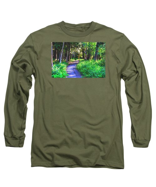 Long Sleeve T-Shirt featuring the photograph Road Less Traveled by Susan Crossman Buscho