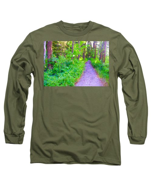 Long Sleeve T-Shirt featuring the photograph Road More Traveled by Susan Crossman Buscho