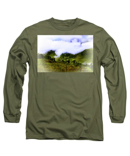 Long Sleeve T-Shirt featuring the photograph Road Through The Andes by Al Bourassa