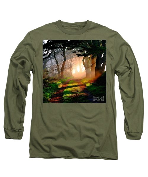 Road Through The Woods Long Sleeve T-Shirt