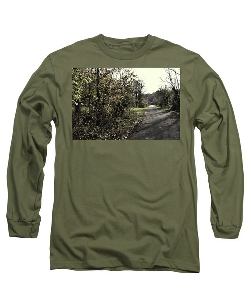 Road To Covered Bridge Long Sleeve T-Shirt by Joanne Coyle