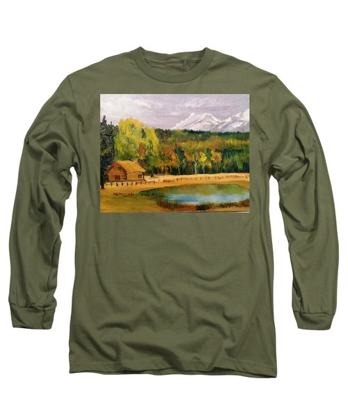 Road To Kintla Lake Long Sleeve T-Shirt by Larry Hamilton
