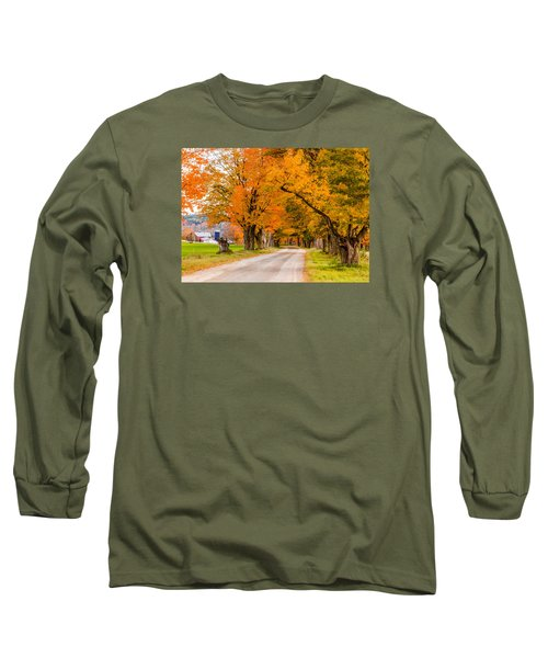 Road To The Farm Long Sleeve T-Shirt by Tim Kirchoff