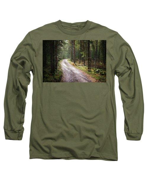 Road To The Light Long Sleeve T-Shirt by Teemu Tretjakov