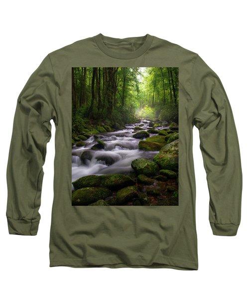 Great Smoky Mountains Roaring Fork Gatlinburg Tennessee Long Sleeve T-Shirt