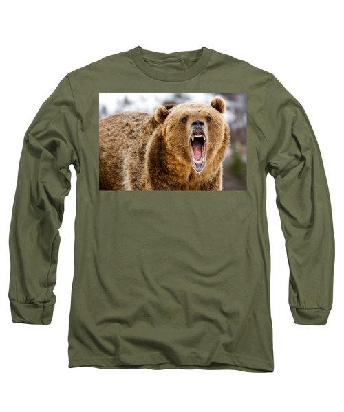 Roaring Grizzly Bear Long Sleeve T-Shirt