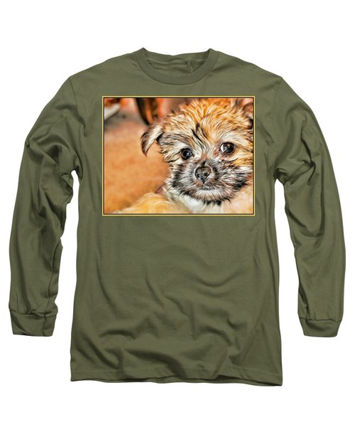 Long Sleeve T-Shirt featuring the photograph Robin by Mindy Newman