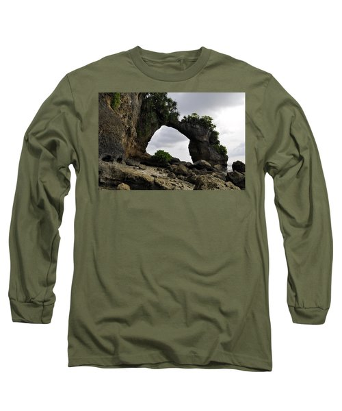 Long Sleeve T-Shirt featuring the photograph Rock Bridge At Neil Island by Bliss Of Art