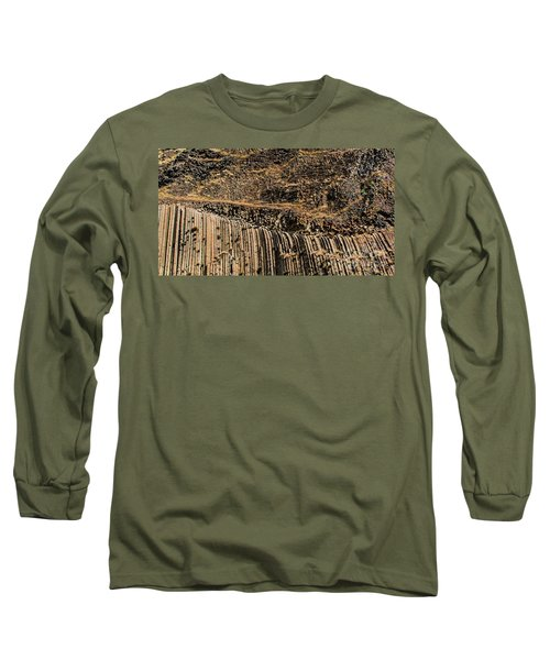 Rock Mountain Rock Art By Kaylyn Franks Long Sleeve T-Shirt