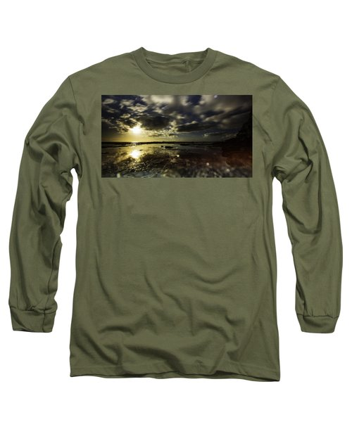 Long Sleeve T-Shirt featuring the photograph Rock Pool Sunrise by Chris Cousins