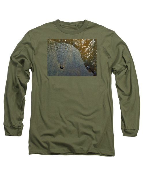 Long Sleeve T-Shirt featuring the photograph Rock Sand Water Sun 2  by Lyle Crump