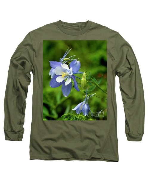 Rocky Mountain Blue Columbine Long Sleeve T-Shirt