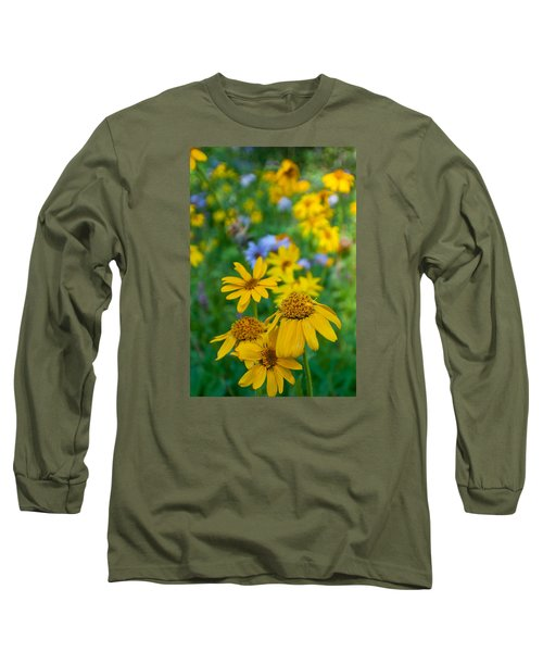Rocky Mountain Wildflowers Long Sleeve T-Shirt