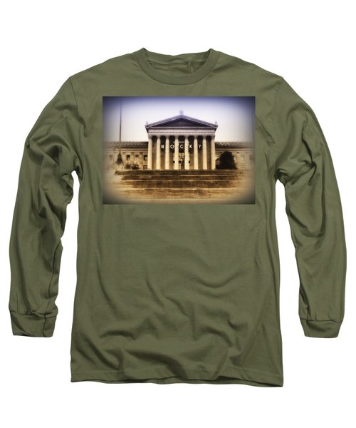 Rocky On The Art Museum Steps Long Sleeve T-Shirt