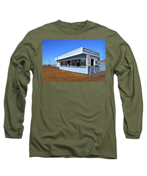 Long Sleeve T-Shirt featuring the photograph Rod Rental At The Pismo Beach Pier by Floyd Snyder