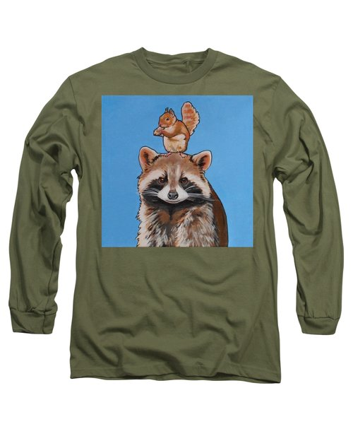 Rodney The Raccoon Long Sleeve T-Shirt