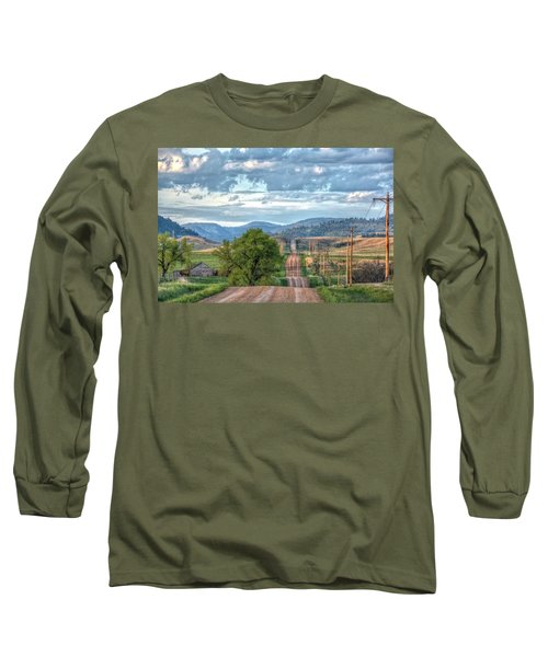 Rollercoaster Country Road Long Sleeve T-Shirt by Fiskr Larsen