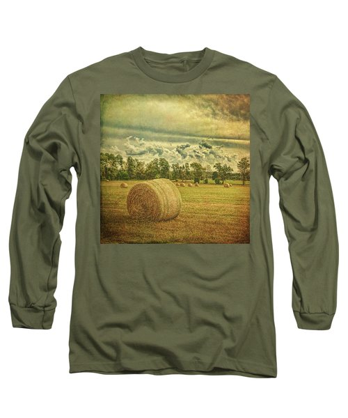 Long Sleeve T-Shirt featuring the photograph Rollin' Hay by Lewis Mann