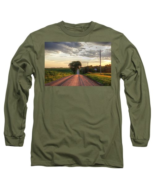 Rolling Down A Country Road Long Sleeve T-Shirt by Karen McKenzie McAdoo